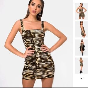 Motel Zebra Farlie Bodycon Dress